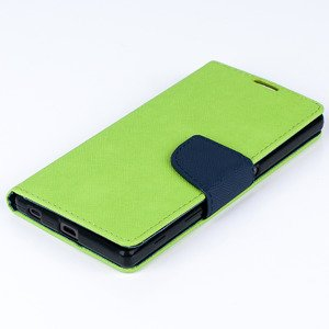 Brieftasche Fall decken CASE COVER TASCHE SONY XPERIA Z5 Lime