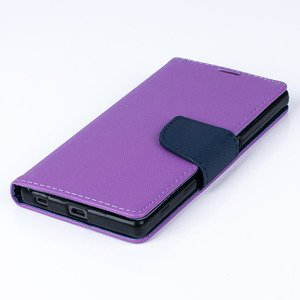 Brieftasche Fall decken CASE COVER TASCHE SONY XPERIA Z5 VIOLETT
