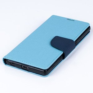 Brieftasche Fall decken CASE COVER TASCHE SONY XPERIA Z5 blau