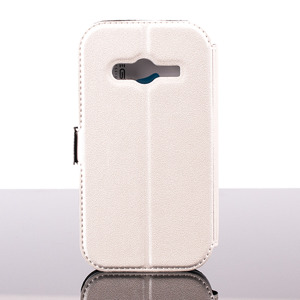 Brieftasche Fall decken Holster CASE COVER GALAXY TREND 2 LITE Weiß