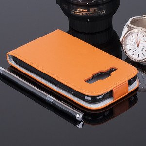 Fall Holster CASE TASCHE CASE COVER SAMSUNG GALAXY J1 SM-J100 ORANGE