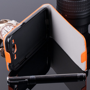 Fall Holster decken COVER CASE TASCHE GALAXY CORE PRIME G360 ORANGE