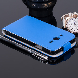 Fall Holster decken COVER CASE TASCHE SAMSUNG GALAXY CORE 2 G355 BLAU
