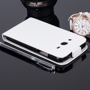 Fall Holster decken COVER CASE TASCHE SAMSUNG GALAXY CORE 2 G355 Weiß