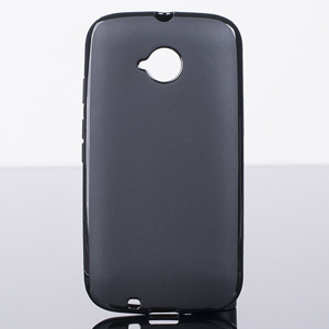 Fall decken BACK CASE COVER MOTOROLA MOTO E2 E 2nd Gen SCHWARZ