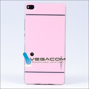 Fall decken CASE COVER MOTOMO TPU GEL RUBBER HUAWEI ASCEND P8 ROSA