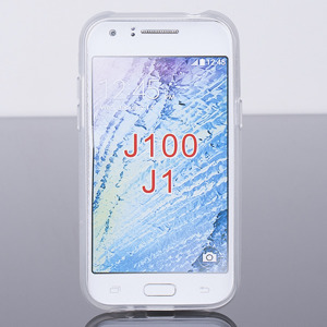 Fall decken CASE COVER X-LINE TASCHE SAMSUNG GALAXY J1 SM-J100 CLEAR