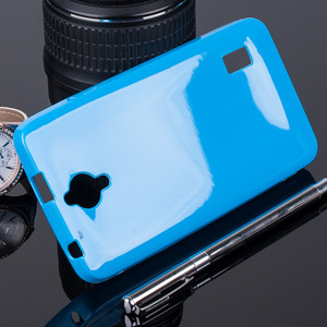 Fall decken CASE GEL TPU COVER TASCHE JELLY HUAWEI ASCEND Y635 BLAU