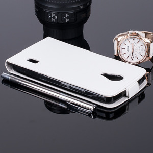 SLIM Fall decken Holster Magnet CASE COVER HUAWEI ASCEND Y635 Weiß