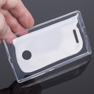 TASCHE Fall decken CASE COVER MICROSOFT LUMIA 532 435 TRANSPARENT 0.3