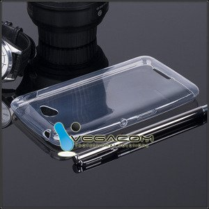 TASCHE Fall decken CASE COVER SONY XPERIA E4 E2104 E2105 CLEAR 0.3mm