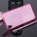 TASCHE Fall decken BACK CASE COVER HTC DESIRE 820 ROSA 0.3mm