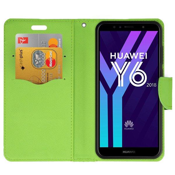 custodia a portafoglio huawei y6 2018