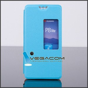 CUSTODIA COPERTURA CASO VIEW finestra per HUAWEI ASCEND P8 SKYBLUE