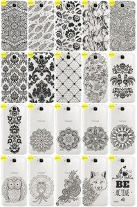 Case Cover Caso Copertura Overprint Kreatui Pizzo HUAWEI HONOR HOLLY