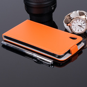 FLIP FLEX CASE COVER CUSTODIA caso coprire SONY XPERIA M4 AQUA ORANGE