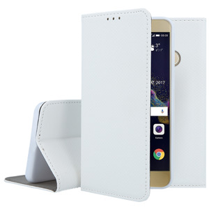 HOLSTER COPERTURA CASO CASE COVER Magnetic HUAWEI P8 LITE 2017 BIANCO