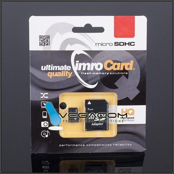 Karta Imro Micro Sd 8gb 8 Gb Microsd Z Adapterem 31390 Akcesoria